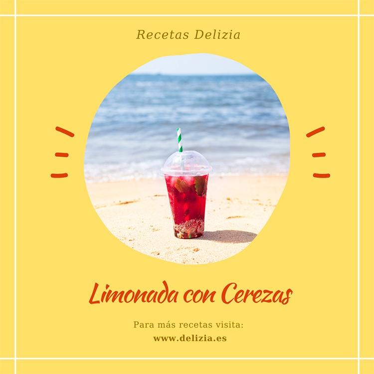 limonada con cereza